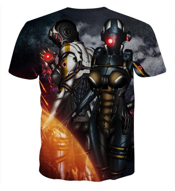 Mass Effect Cerberus Army Battle Armor Comic Style T-Shirt