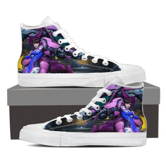 Overwatch D.Va MEKA Mech Pilot Dope Sneakers Converse Shoes