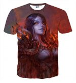 Diablo 3 Fan Art Demon Lord Female Version Game T-Shirt - Superheroes Gears
