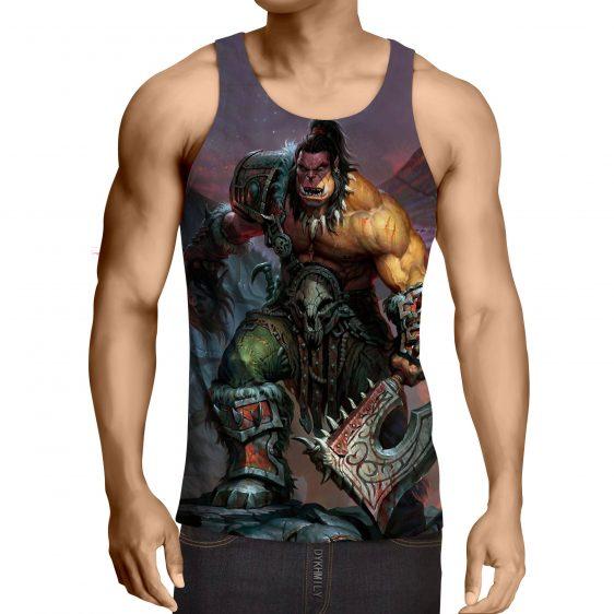 World of Warcraft Orc Warrior Grom Hellscream Game Tank Top