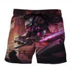 League of Legends Fiora the Heroic Moba Champion Purple Summer Shorts - Superheroes Gears