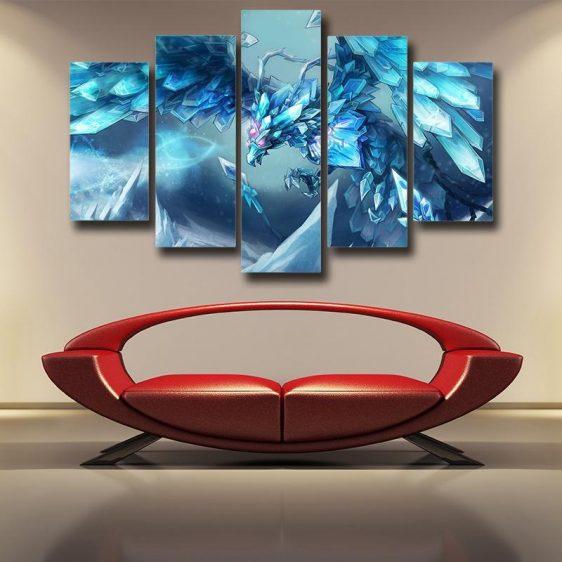 League of Legends Anivia Powerful Cryophoenix Cool 5pc Wall Art Decor - Superheroes Gears