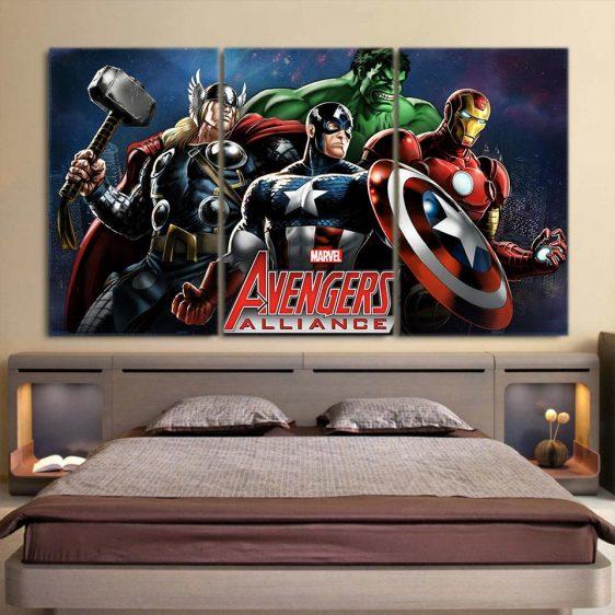 Marvel The Avengers Captain America Dope 3pcs Canvas Print
