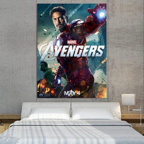 Marvel The Avengers Iron Man Tony Stark 1pcs Canvas Print