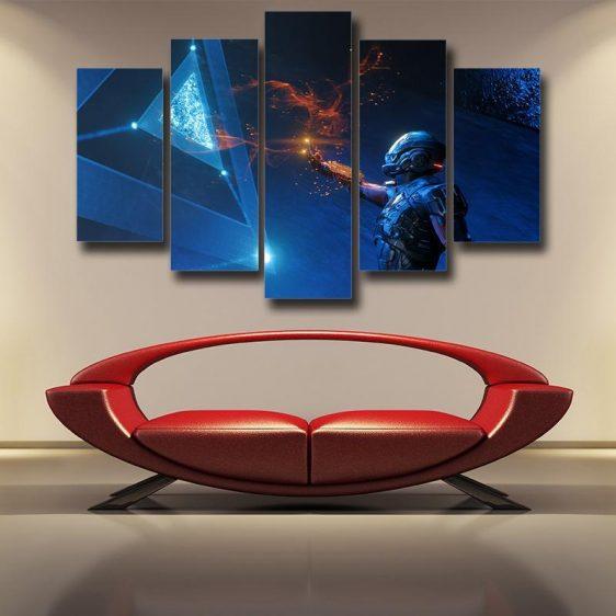 Mass Effect Tali Zorah Sexy Mask Soldier Theme 5pc Wall Art Canvas Prints