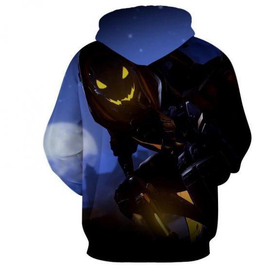 Overwatch Reaper Deathly Hero Silent Design Gaming Hoodie