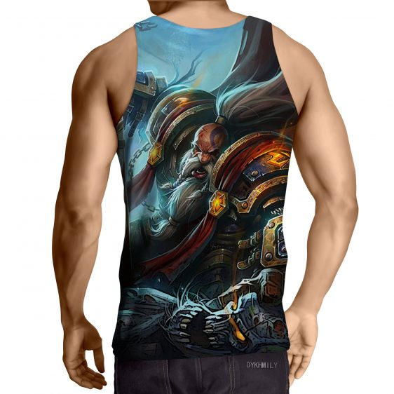 World of Warcraft Kurdran Drawf Warrior Art Gaming Tank Top