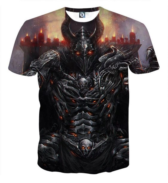 World of Warcraft Death Knight Evil Theme Game T-Shirt