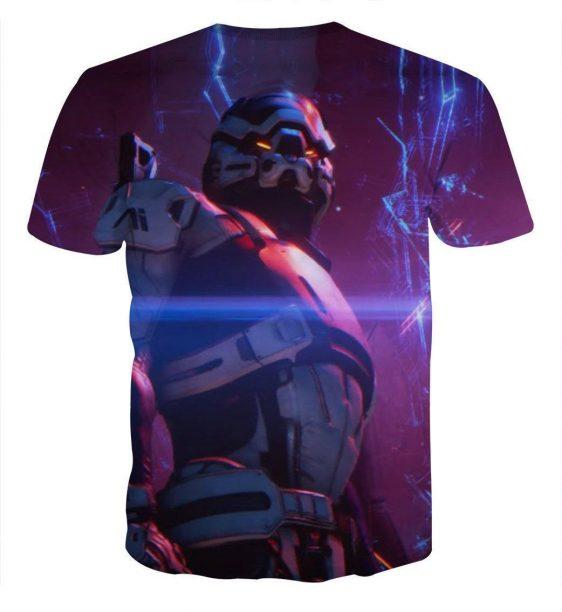 Mass Effect Turian Battle Armor Gaming Theme Cool T-Shirt