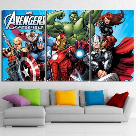 The Avengers Comic Style Superheroes Cool 3Pcs Wall Art