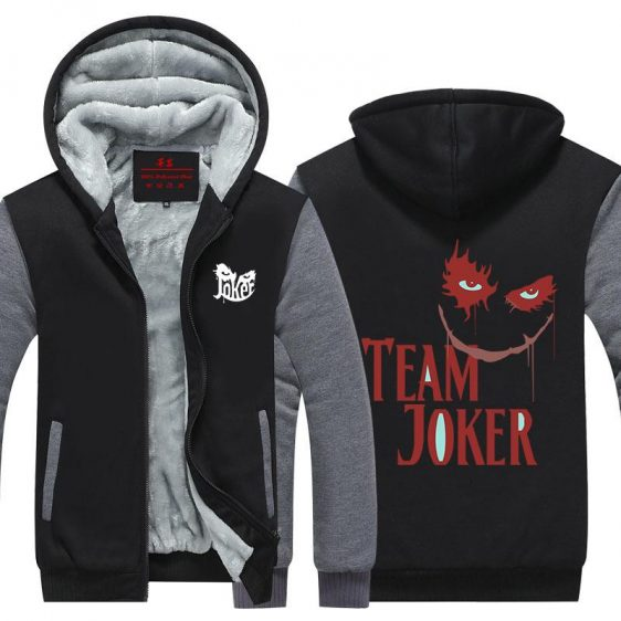The Joker Team Villian Symbol Design Hooded Jacket