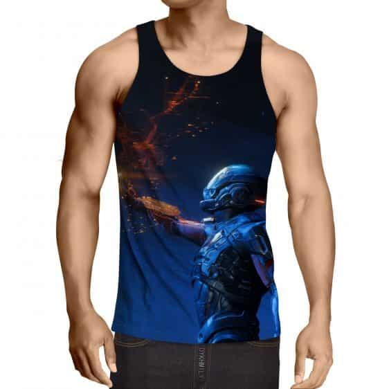 Mass Effect Tali Zorah Sexy Soldier Game Summer Tank Top