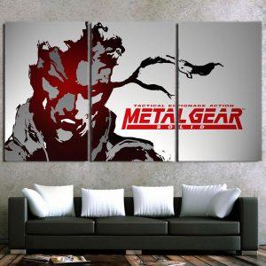 Metal Gear Tactical Espionage Artistic 3pcs Canvas Prints