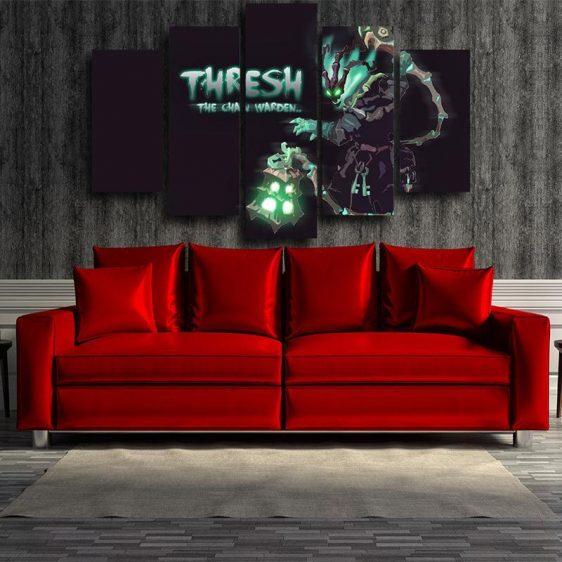 League of Legends Thresh Champion Chain Warden Cool 5pc Wall Art