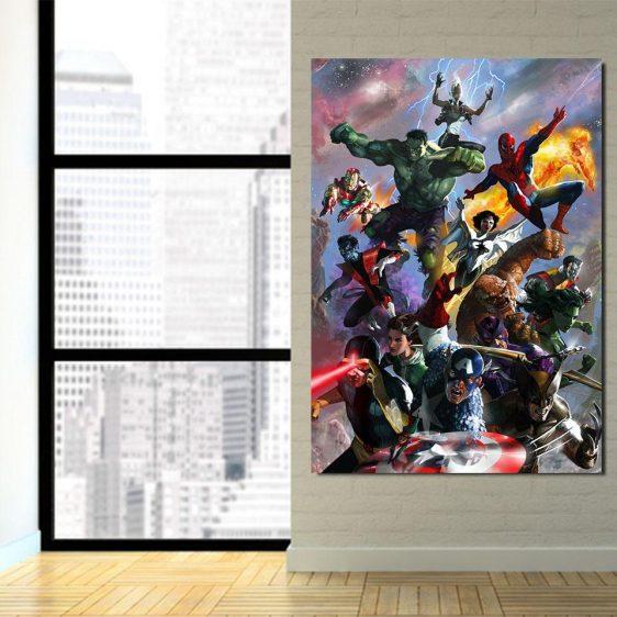 Marvel Superheroes In Battle Unique Style 1pcs Canvas Print