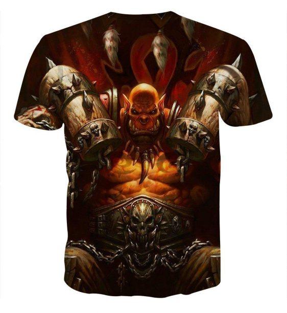 World of Warcraft Garrosh Orc Warlord Cool Game T-Shirt