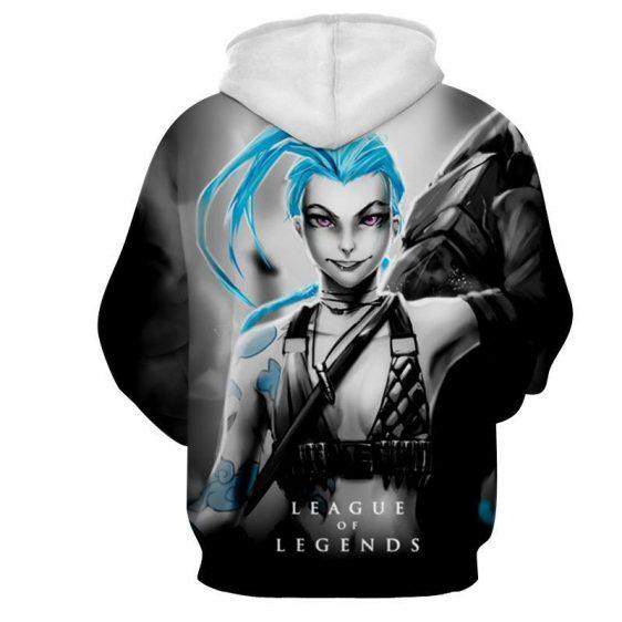League of Legends Jinx Loose Cannon Trendy 3D Design Hoodie