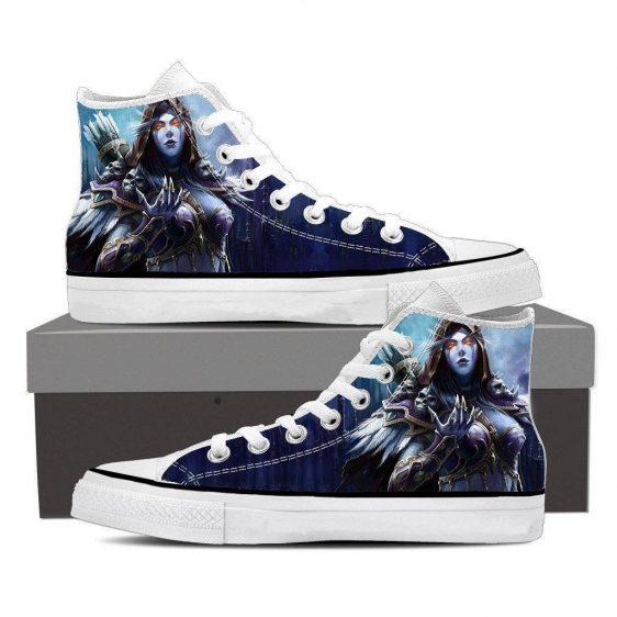 World of Warcraft Sylvanas Night Elf Archer Fan Art Sneakers Converse Shoes