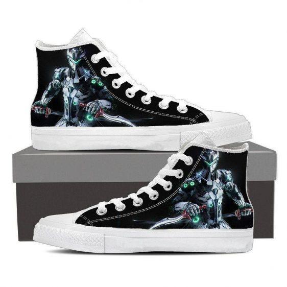 Overwatch Genji Cyborg Ninja Gaming Sneakers Converse Shoes