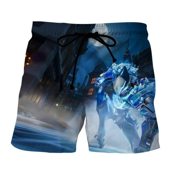 Overwatch Pharah Captain Frostbite Skin Dope Style Shorts