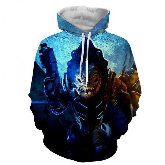 Mass Effect Urdnot Wrex Battlemaster Gaming Style Hoodie