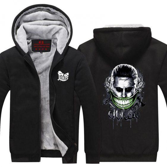 The Joker Laughing Villain Portrait Dope Hooded Jacket
