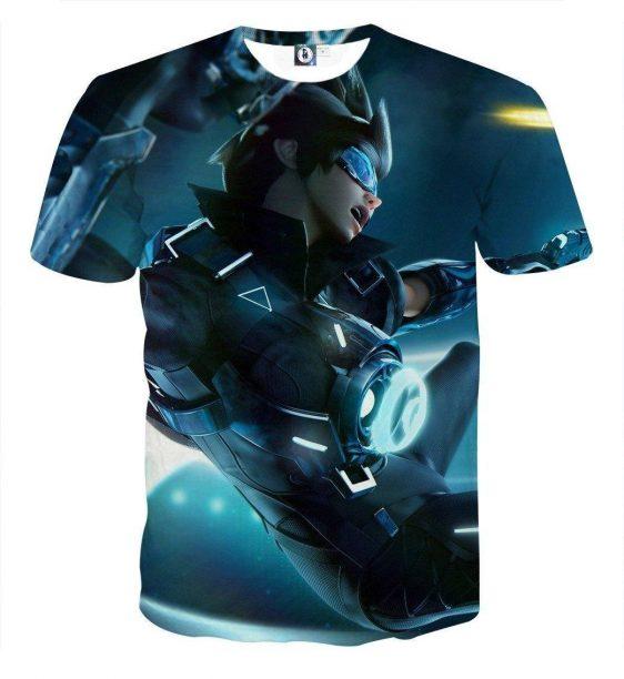 Overwatch Tracer Cadet Oxton Skin Cool Vibe Trending T-Shirt