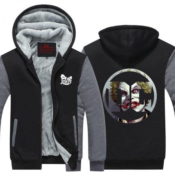 DC Comic The Joker Symbol Modern Design Hooded Jacket - Superheroes Gears