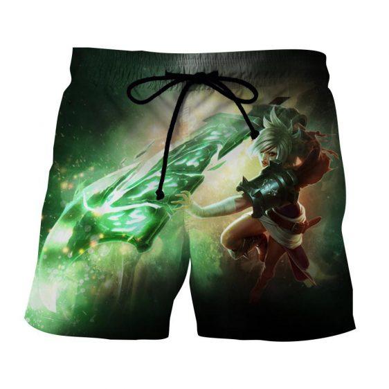League of Legends Riven Dominant Broken Sword Fighting Trendy Shorts
