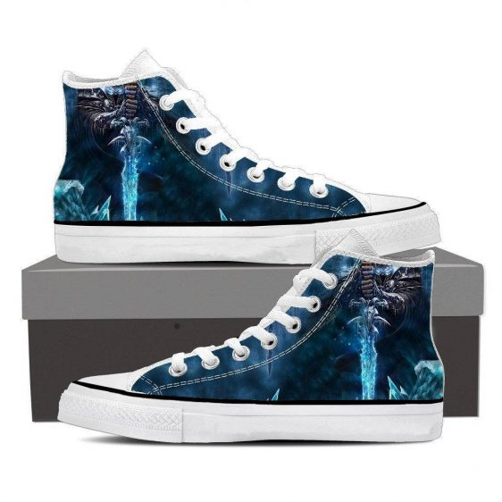 World of Warcraft Frozen Throne Arthas King Dope Sneakers Converse Shoes