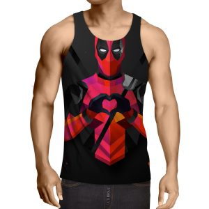 Hilarious Deadpool Love Icon Modern Design 3D Print Tank Top - Superheroes Gears