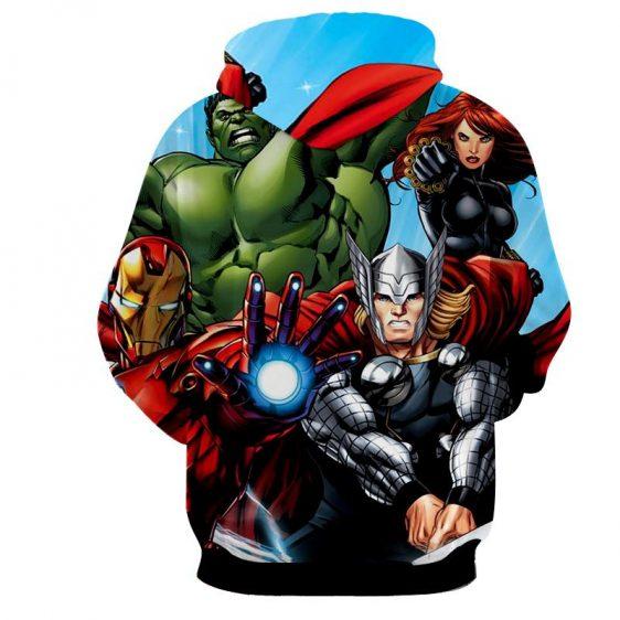 Marvel The Avengers Iron Man Repulsor Beam Unique 3D Hoodie