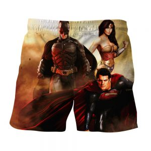 Justice League Perfect Trinity Dope Design Full Print Shorts - Superheroes Gears
