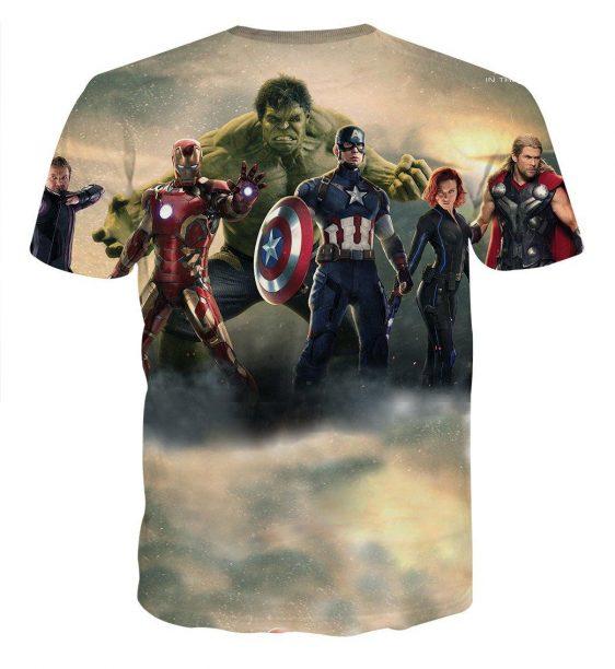 Marvel The Avengers Iron Man Hulk Captain America T-shirt