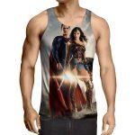 Dawn Of Justice Superman and Wonder Woman Full Print Tank Top - Superheroes Gears