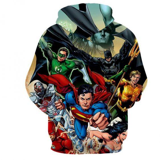 Justice League Superheroes Cool Team Art 3D Printed Hoodie - Superheroes Gears