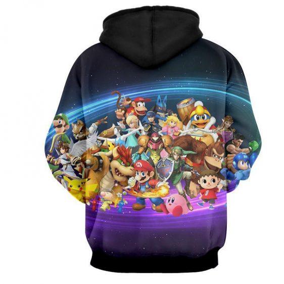 Nintendo Legendary Characters Mario Samus Link Zelda Hoodie