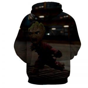 Guardians of the Galaxy Angry Baby Groot 3D Print Design Hoodie - Superheroes Gears