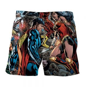 Justice League Comic Superman Dope Stand 3D Printed Shorts - Superheroes Gears