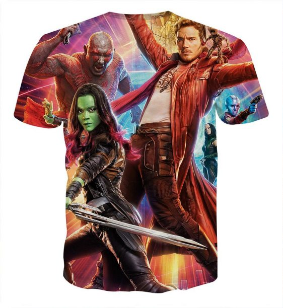 Guardians of the Galaxy Star-Lord Gamora Perfect Team Cool T-shirt - Superheroes Gears
