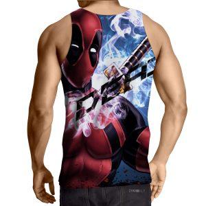 Sexy Deadpool Winking Awesome Portrait Smoke Design Tank Top - Superheroes Gears