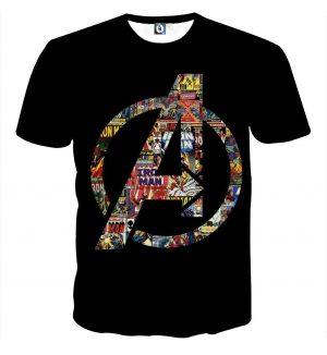 Marvel The Avengers Symbol Iron Man Unique Style T-shirt - Superheroes Gears