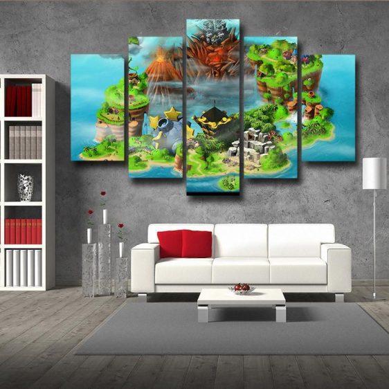 Super Mario Castle 5pc Wall Art Decor Posters Canvas Prints