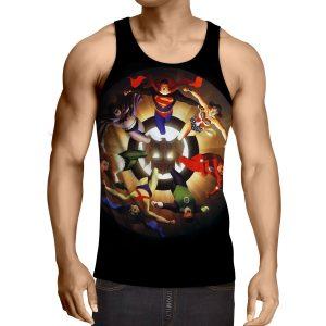 Justice League Superheroes Justice Symbol 3D Printed Tank Top - Superheroes Gears