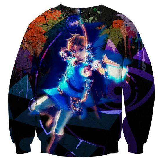The Legend Of Zelda Link Archer Shooting Vibrant Sweater