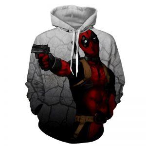 Deadly Deadpool Shooting Scene Dope Style Full Print Hoodie - Superheroes Gears
