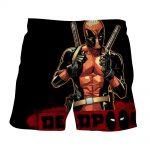 Deadpool Thumbs Up Style Black Background 3D Print Short - Superheroes Gears