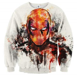 Deadpool Marvel Unique Style Fan Art Portrait Awesome Sweatshirt - Superheroes Gears