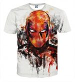 Deadpool Marvel Unique Style Fan Art Portrait Awesome T-shirt - Superheroes Gears