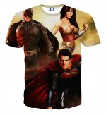 Justice League Perfect Trinity Dope Design Full Print T-Shirt - Superheroes Gears